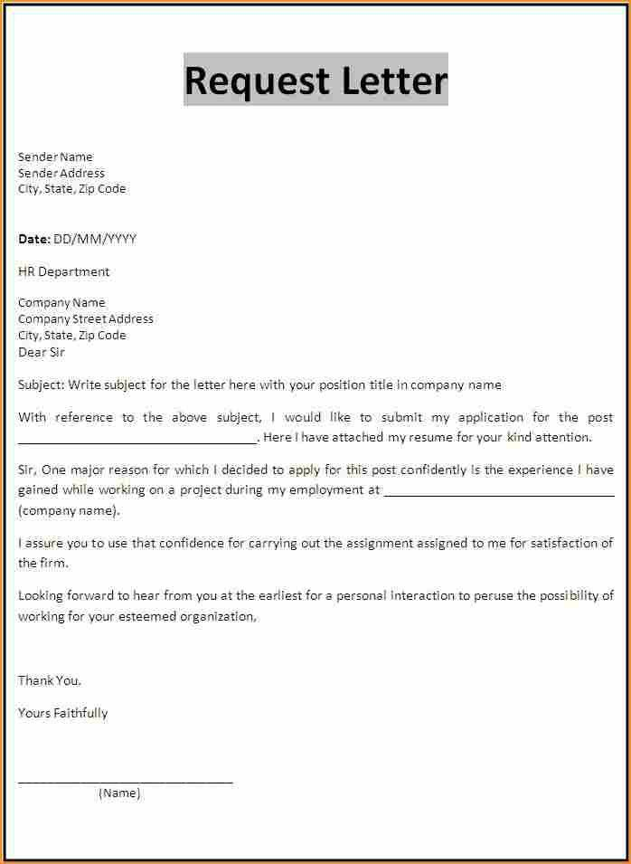 Requisition Letter Sample  Requisition Letter Format Sample