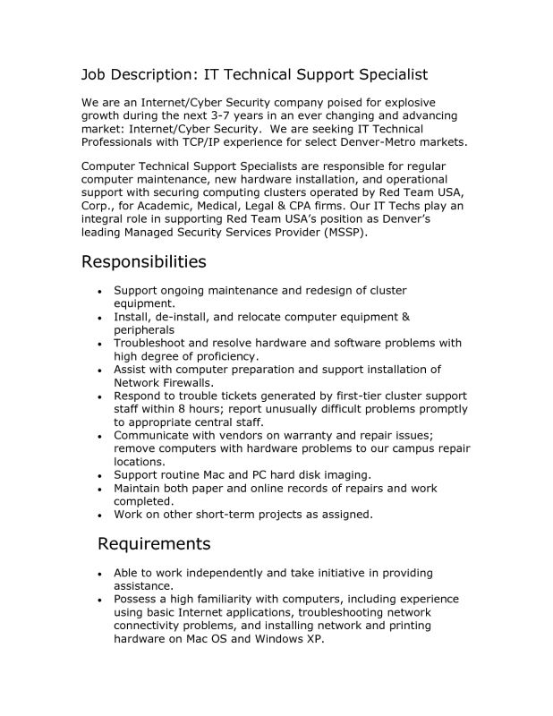 resume it technician resume cv cover letter. computer repair ...