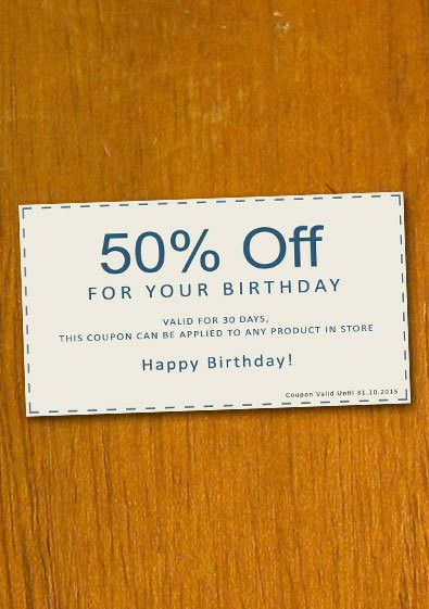 Free Sample Birthday Coupon Template