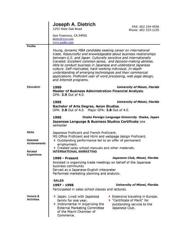 10 First Time Resume With No Experience Samples | jennywashere.com