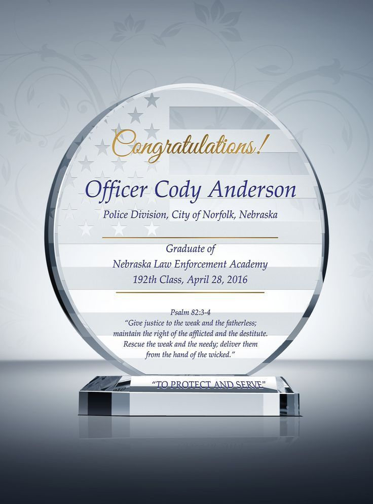 103 best Police Awards & Plaques images on Pinterest | Police ...
