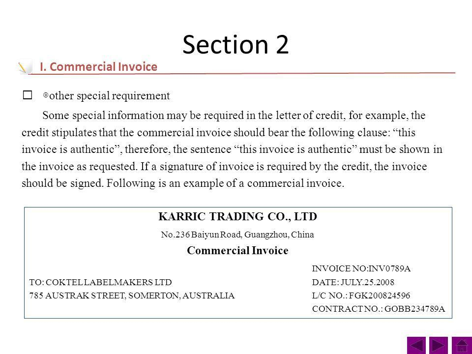 Project Ⅱ Task 6 Commercial Invoice. A commercial invoice is a ...