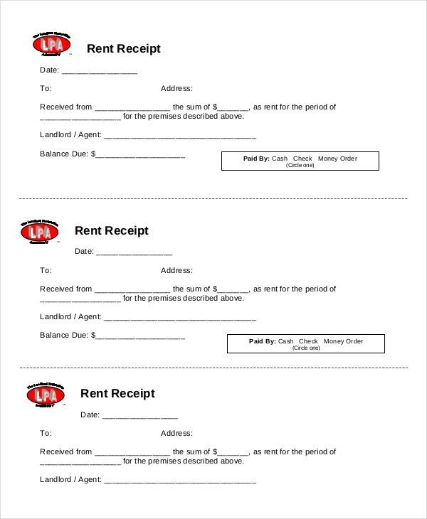 Rent Receipt Template - 9+ Free Word, PDF Documents Download ...