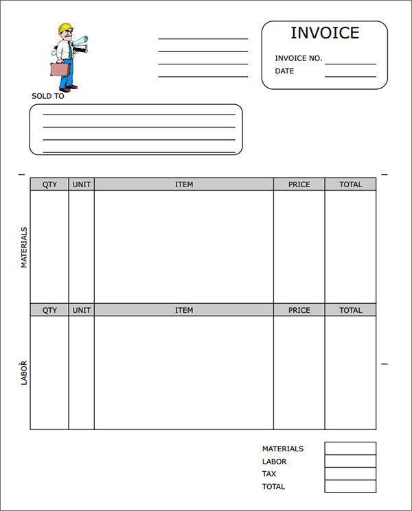 Contractor Invoice Template | invoice example