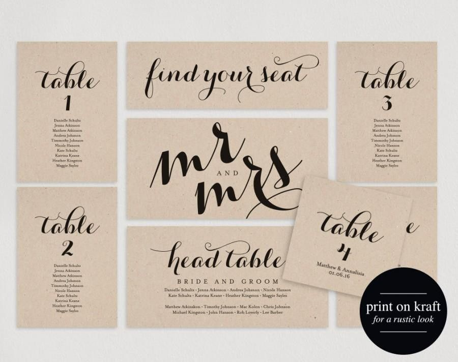 Wedding Seating Chart, Seating Plan Template, Wedding Seating ...