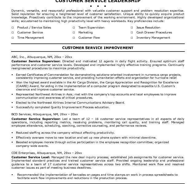Lovely Idea Customer Service Resume Objective 13 Good Skills - CV ...