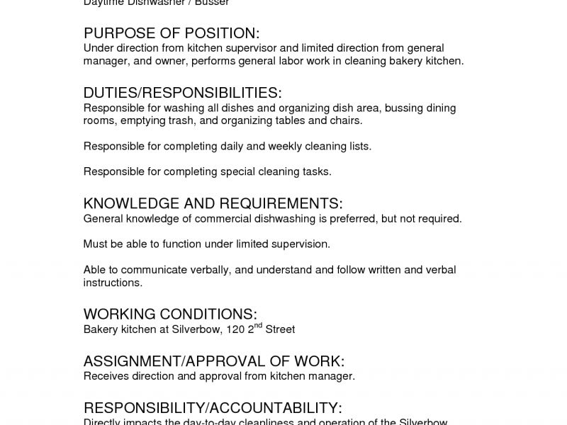 Table Busser Job Description. picture gallery of busser resume ...