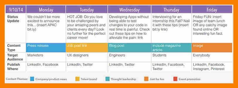 9+ content calendar example | biology resume