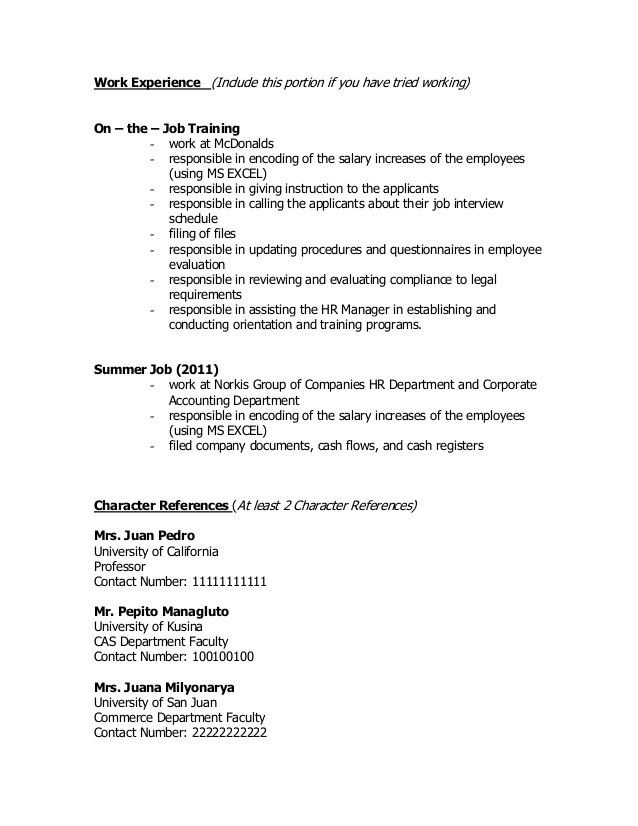 Sample Resume For Retail Store Assistant Manager Resumebox .  Mcdonalds Resume