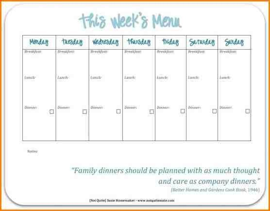 6+ printable menu template | writable calendar