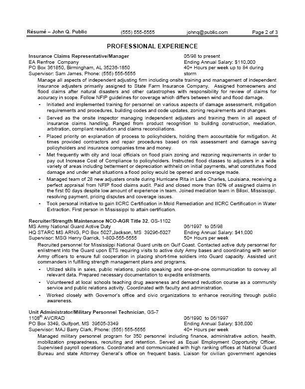 professional government resume samples templates. government job ...