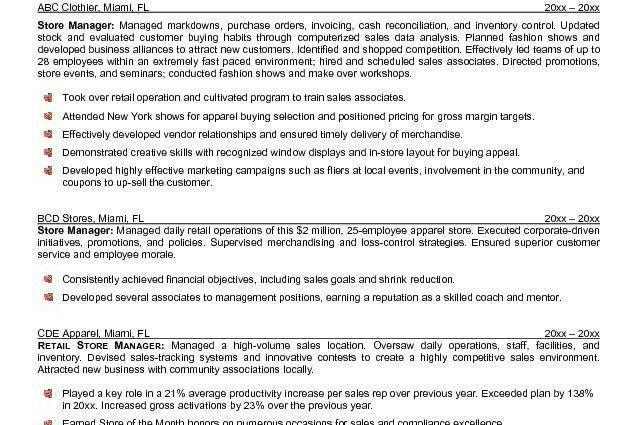 retail on resume retail supervisor resume sampleretail supervisor ...