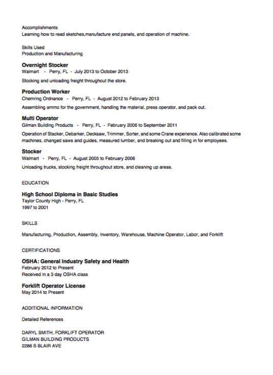 Stocker Resume Example - http://resumesdesign.com/stocker-resume ...