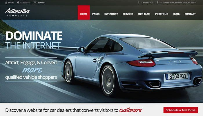 20+ Best Cars Website HTML Templates | TemplateMag