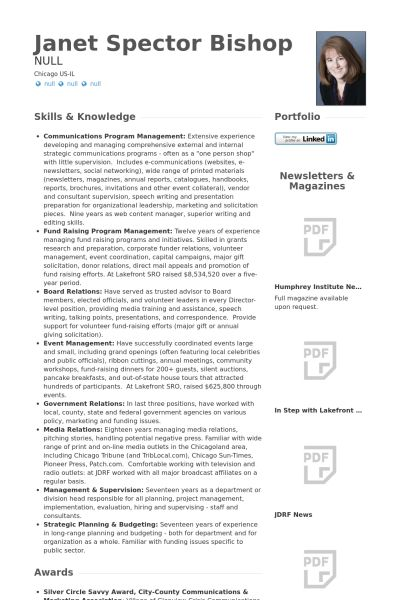 Senior Manager Resume samples - VisualCV resume samples database