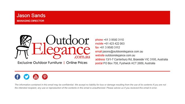 Outdoor Elegance | HTML email signature on Behance