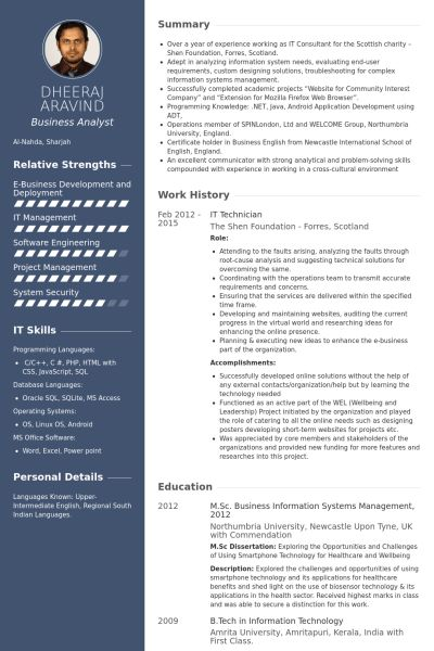 It Technician Resume samples - VisualCV resume samples database