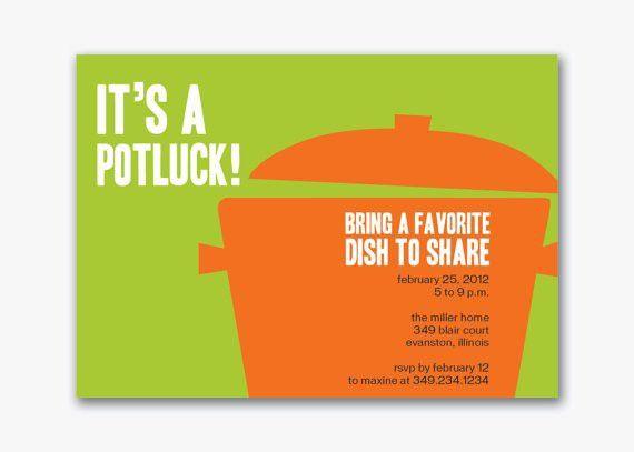 Potluck Flyer Template | Template Design