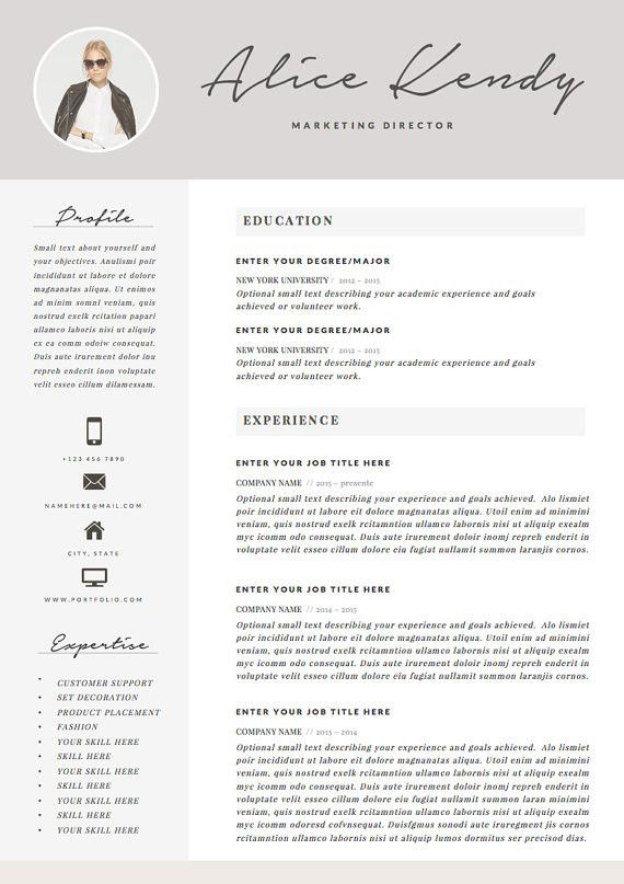 Resume Template 4 page Word DIY Printable CV par TheResumeBoutique ...