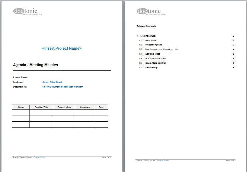 Monthly Meeting Agenda Template 1 | Professional Templates