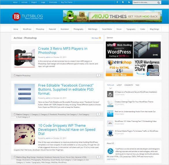 21+ Journal Website Themes & Templates   Free & Premium Templates
