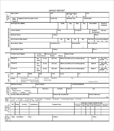 Police Report Template - 9+ Free Word, PDF Documents Download ...
