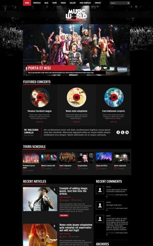 Music Band Wordpress Theme - MusicWorld | WordPress Themes ...