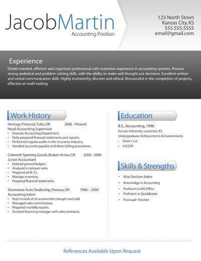 Free Modern Resume Templates For Word #10002