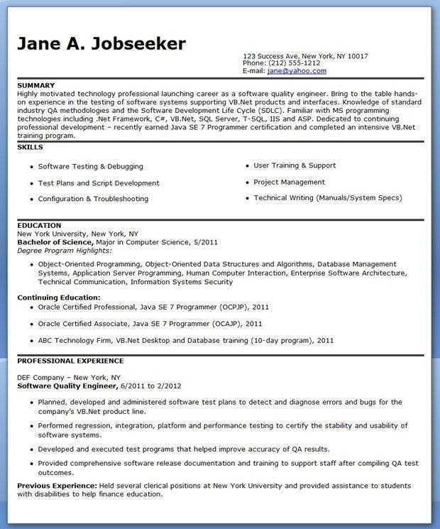 Smartness Design Quality Engineer Resume 10 Resume Test Engineer ...