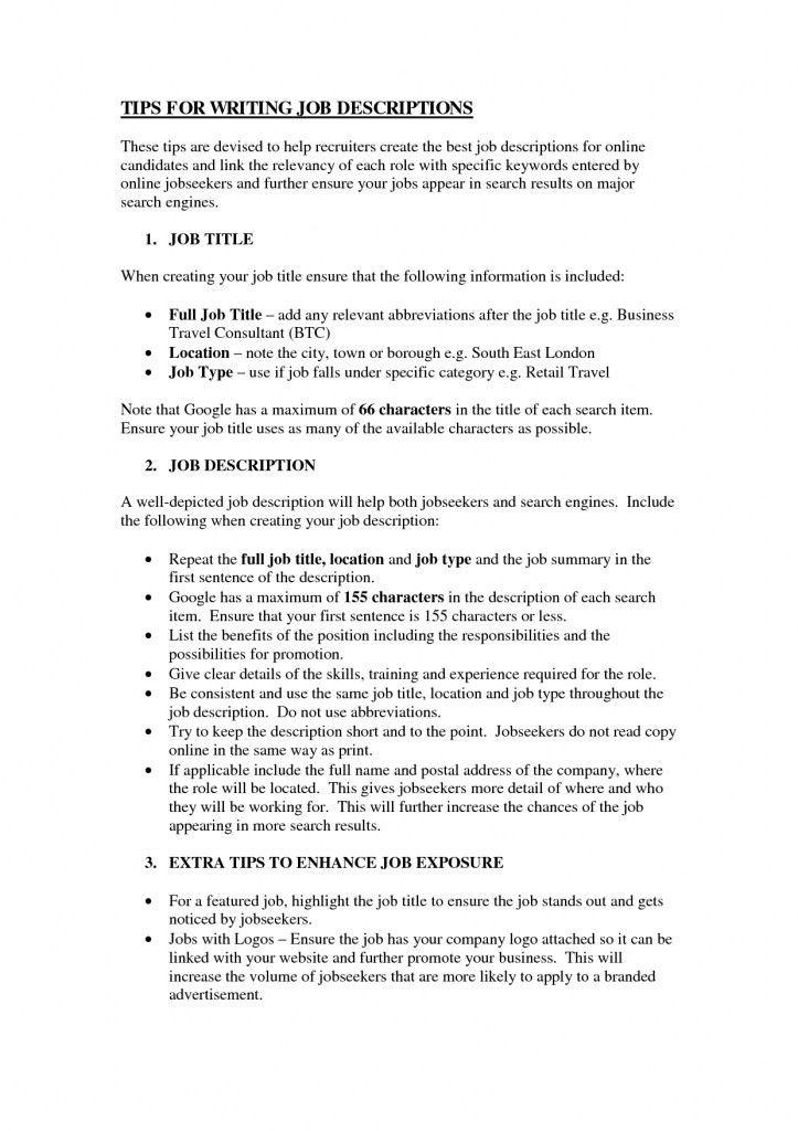 how to write job responsibilities in resume technician duties