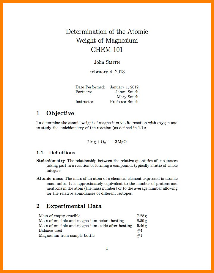 5+ formal report outline example | resume emails