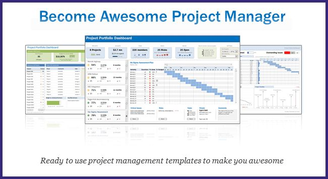 Project Portfolio Management Template. project portfolio dashboard ...