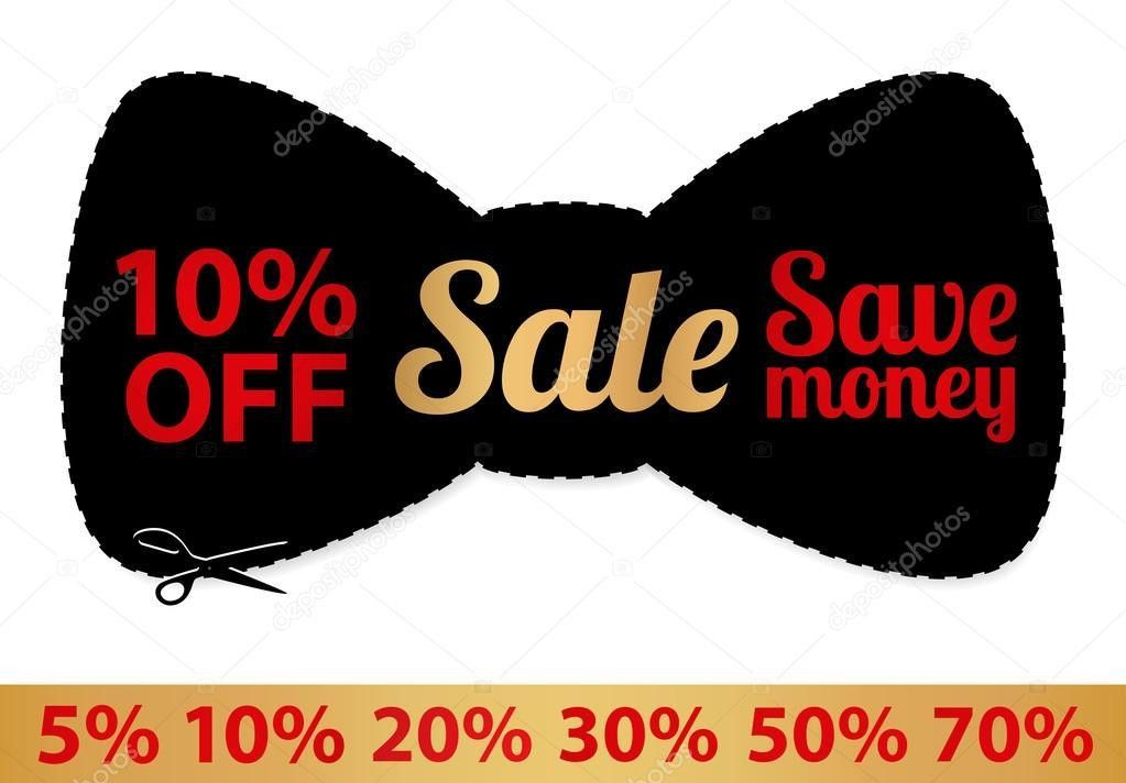 Sale Coupon, vector label (banner, tag) black template (design ...