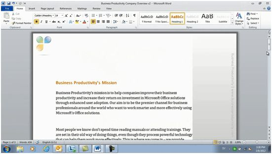 Business Productivity » Professional documents using Microsoft ...
