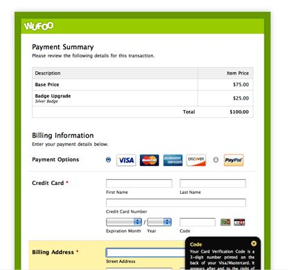 Collect and Process Payments, Donations and Orders | Wufoo