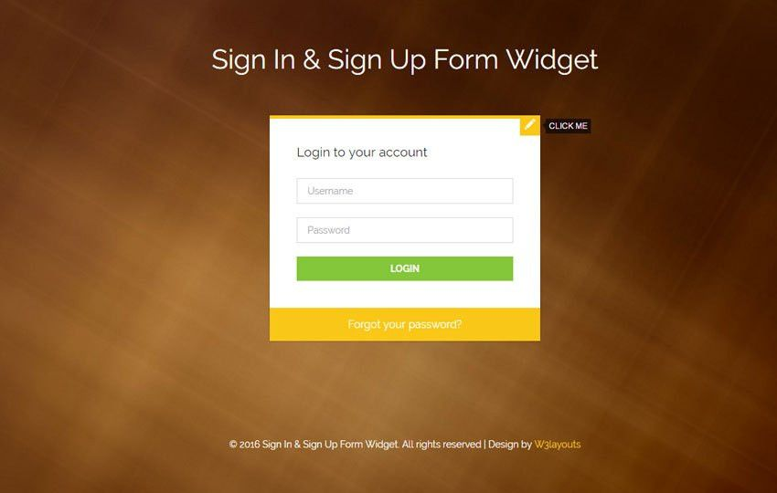 Flat login forms - w3layouts.com