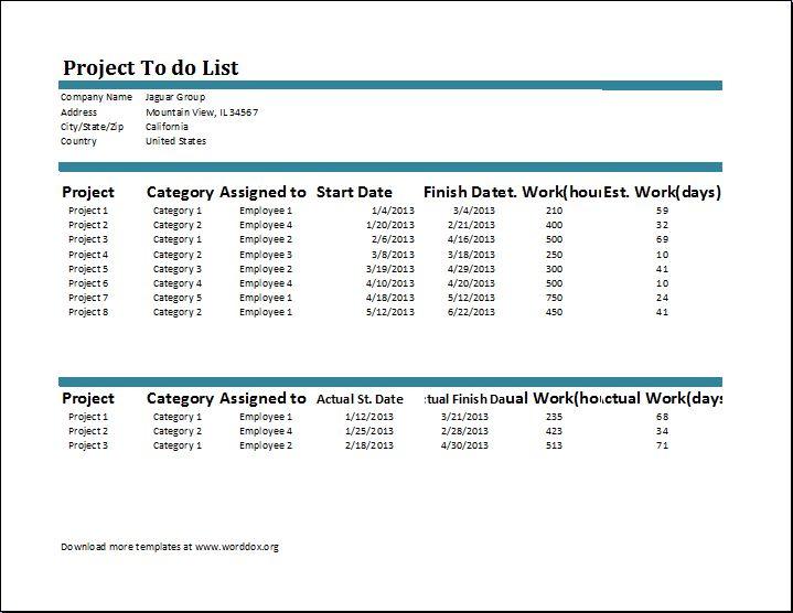 Project List Template   Thebridgesummit.co