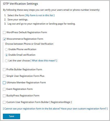 Email Verification / SMS verification / Mobile Verification ...