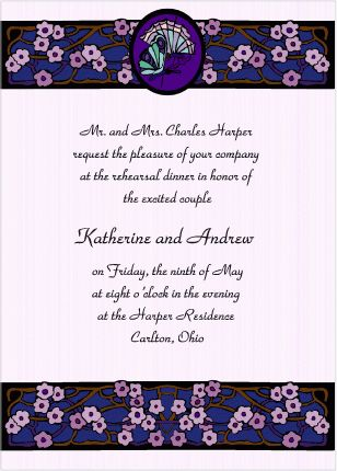 Butterflies and Stained Glass - Rehearsal Dinner Invitations