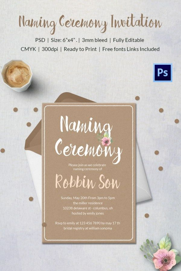 Invitation Letter Format For Naming Ceremony | Create professional ...