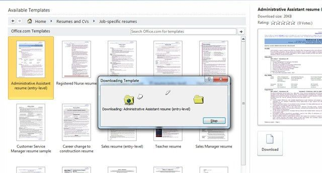 custom word 2007 word get resume templates microsoft word 2010 - Resume Templates Microsoft Word 2010