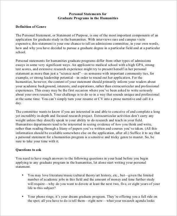 Personal Statement. 2 Successfully Internal Medicine Personal ...