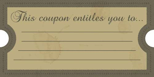 coupon book templates printable free