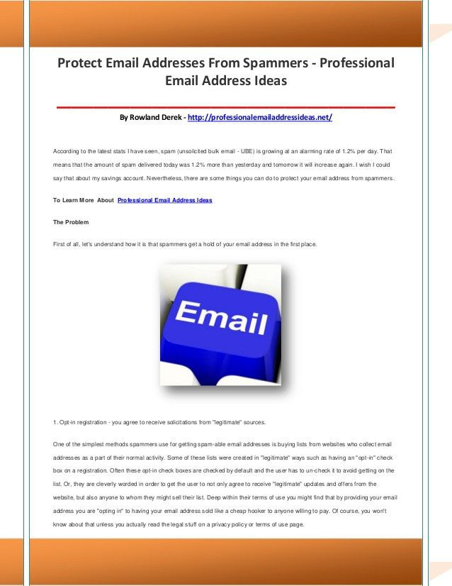 Professional email address ideas