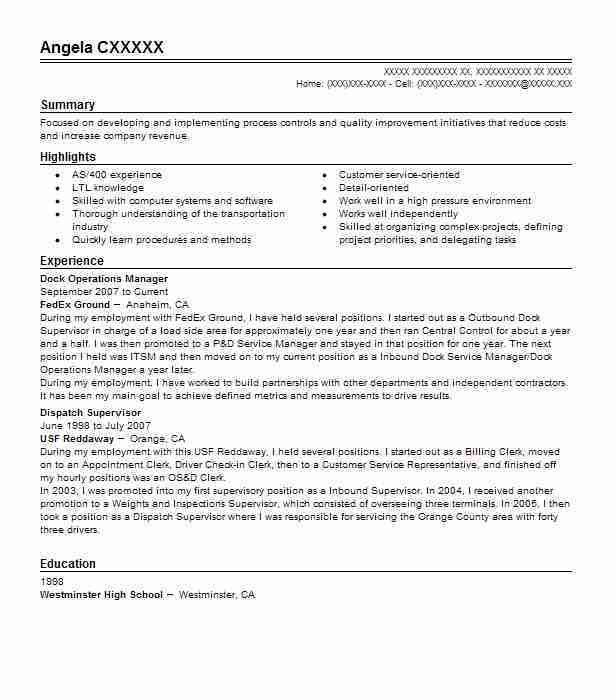 Best Operations Manager Resume Example | LiveCareer