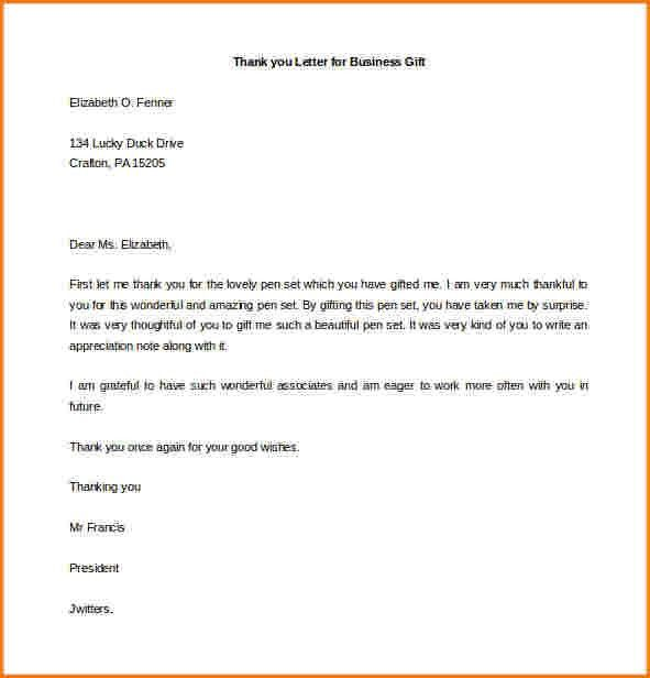 8+ business thank you letter | worker resume