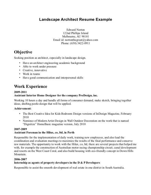 Supervisor Resume Templates. A One Page Supervisors Resume Example ...