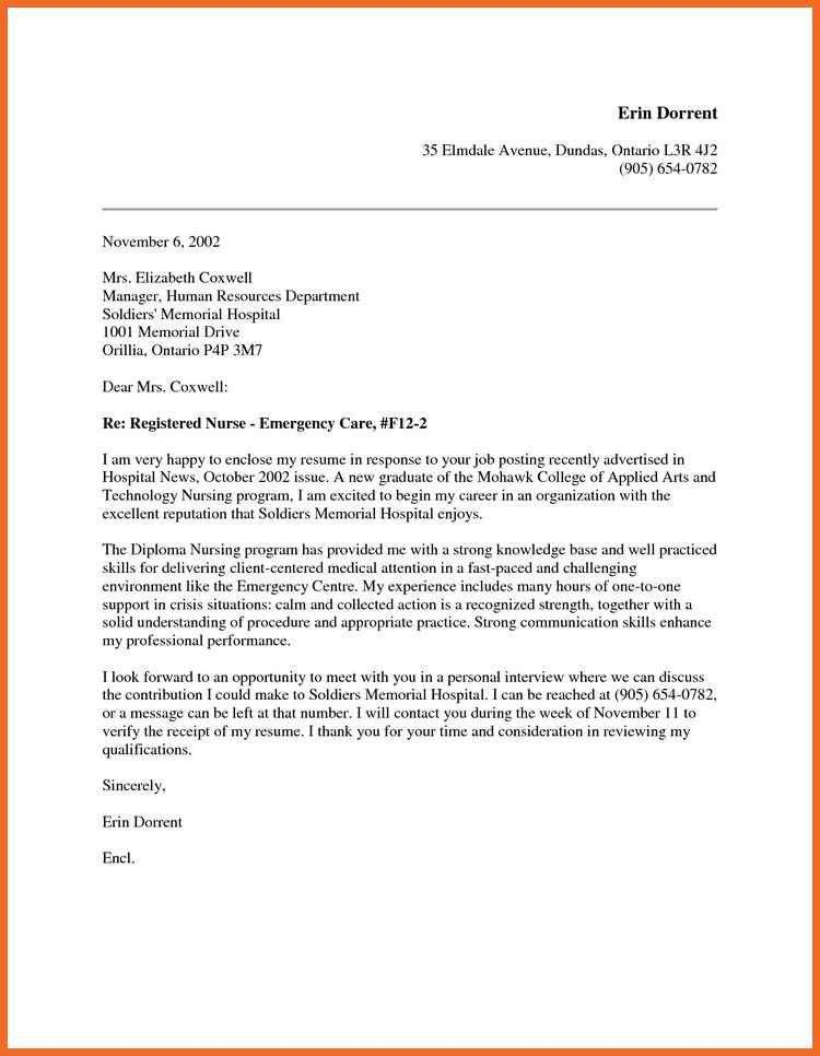 nursing cover letter | sop example