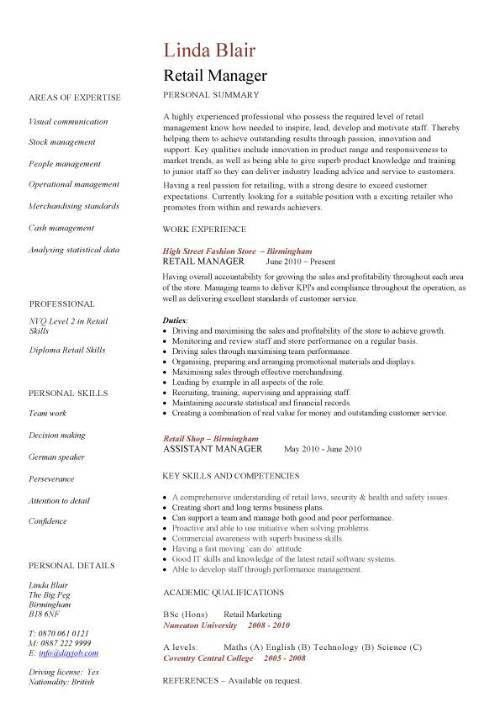 Retail Resume Sample | haadyaooverbayresort.com