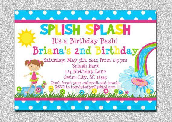 Printable Pool Party Birthday Invitations - vertabox.Com
